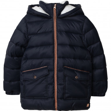 Hooded waterproof down jacket CARREMENT BEAU for GIRL