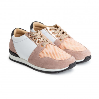 Leather and textile trainers CARREMENT BEAU for GIRL