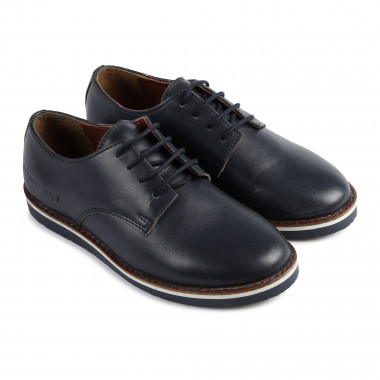 Leather derby shoes with logo CARREMENT BEAU for BOY