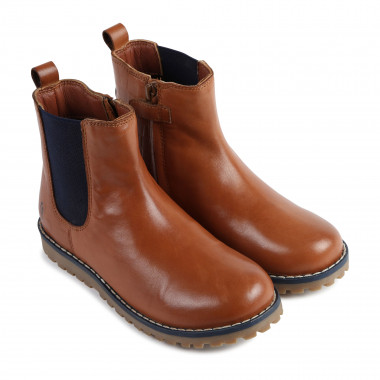 Patterned leather boots CARREMENT BEAU for BOY