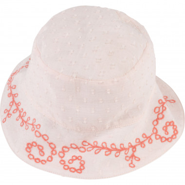Embroidered dotted swiss hat CARREMENT BEAU for GIRL
