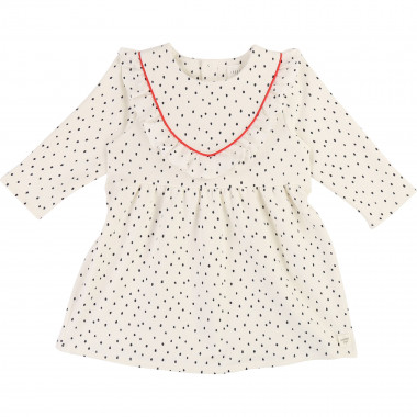 Polka dot fleece dress CARREMENT BEAU for GIRL