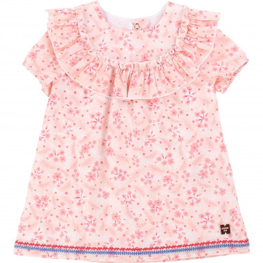 Floral cotton dress CARREMENT BEAU for GIRL