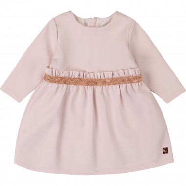Milan-knit dress with belt CARREMENT BEAU for GIRL