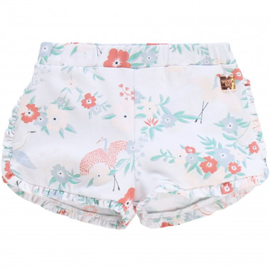 Frilled floral shorts CARREMENT BEAU for GIRL
