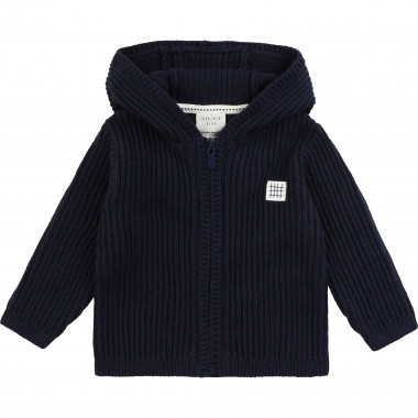 Hooded tricot cardigan CARREMENT BEAU for BOY