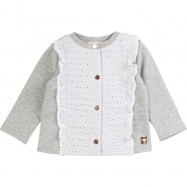 Embroidered fleece cardigan CARREMENT BEAU for GIRL