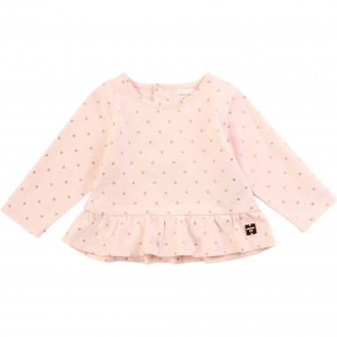 Frilled cotton T-shirt CARREMENT BEAU for GIRL