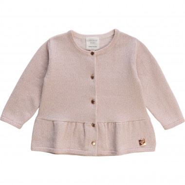 Tricot cardigan with frill CARREMENT BEAU for GIRL