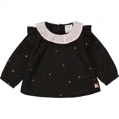 Printed flannel blouse CARREMENT BEAU for GIRL