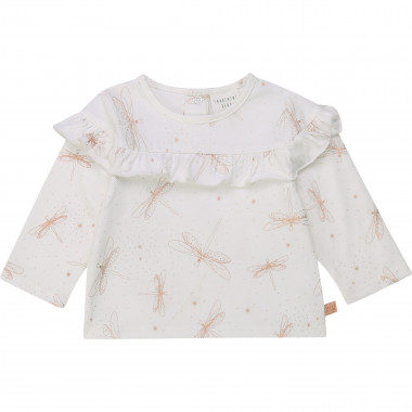 Organic cotton frilled top CARREMENT BEAU for GIRL