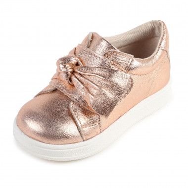 Leather low-top trainers CARREMENT BEAU for GIRL