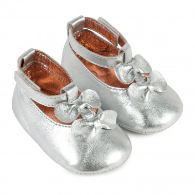 Leather Mary Janes with bows CARREMENT BEAU for GIRL