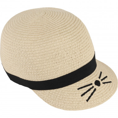 Straw-effect hat KARL LAGERFELD KIDS for GIRL