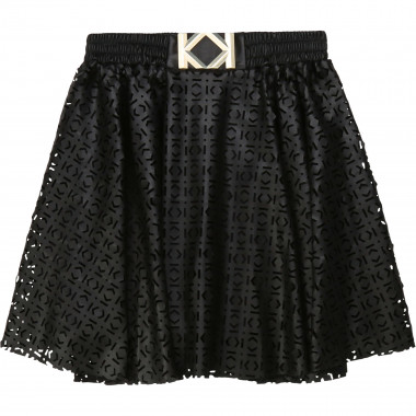 Faux leather skater skirt KARL LAGERFELD KIDS for GIRL