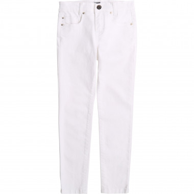 Straight-cut cotton trousers KARL LAGERFELD KIDS for GIRL