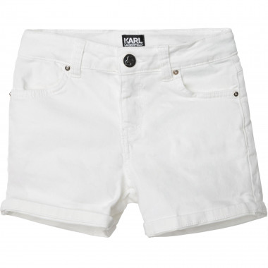 Cotton shorts KARL LAGERFELD KIDS for GIRL