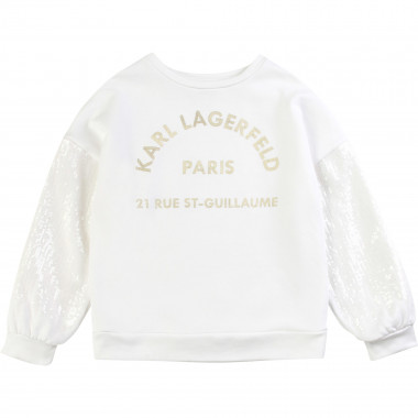 Sweatshirt with sequins KARL LAGERFELD KIDS for GIRL