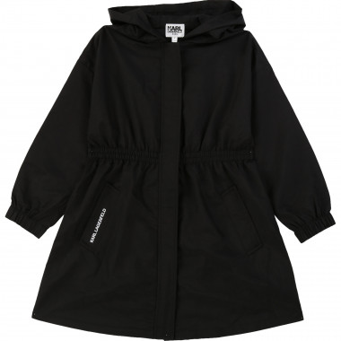 Coated hooded parka KARL LAGERFELD KIDS for GIRL