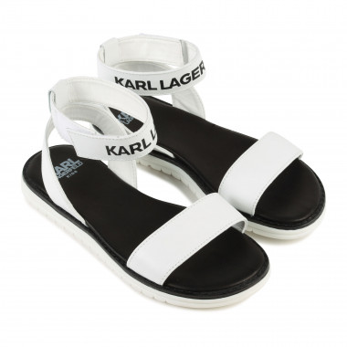 Leather sandals KARL LAGERFELD KIDS for GIRL