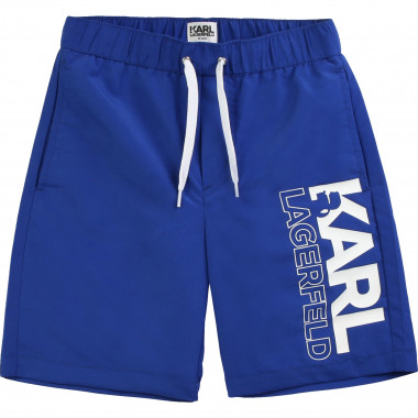 Polyester surf shorts KARL LAGERFELD KIDS for BOY