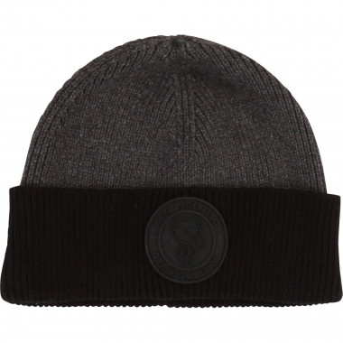 Combed cotton knit hat KARL LAGERFELD KIDS for BOY
