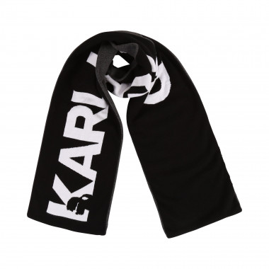Combed cotton knit scarf KARL LAGERFELD KIDS for BOY