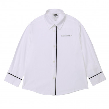 Cotton shirt with logo KARL LAGERFELD KIDS for BOY