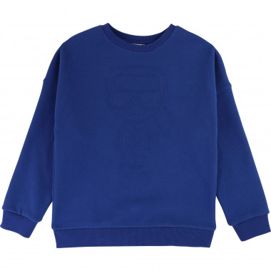 Fleece sweatshirt with logo KARL LAGERFELD KIDS for BOY