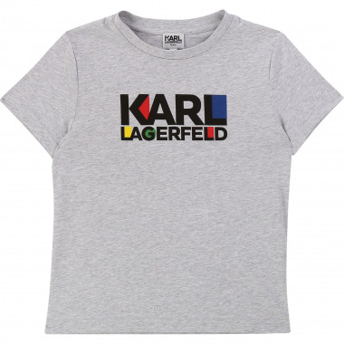 Cotton T-shirt with logo KARL LAGERFELD KIDS for BOY