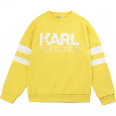 Striped round-neck sweatshirt KARL LAGERFELD KIDS for BOY
