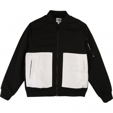 Two-tone printed jacket KARL LAGERFELD KIDS for BOY