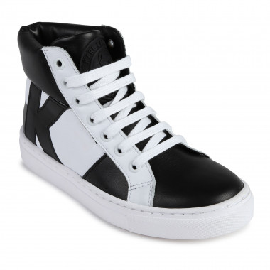 High-top leather trainers KARL LAGERFELD KIDS for BOY