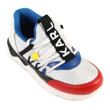 Multicoloured laced trainers KARL LAGERFELD KIDS for BOY