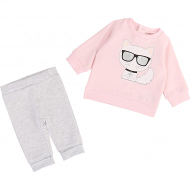 Sweatshirt-trousers set KARL LAGERFELD KIDS for UNISEX