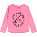 Long-sleeved T-shirt ZADIG & VOLTAIRE for GIRL