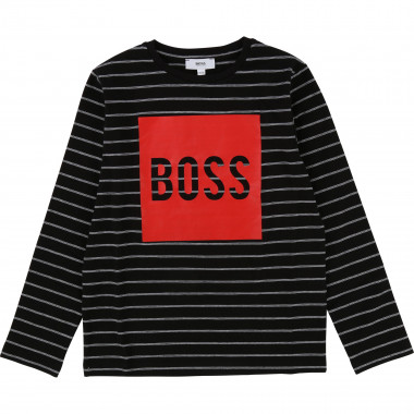 Camiseta marinera estampada BOSS para NIÑO
