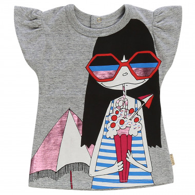Camiseta estampada con botones LITTLE MARC JACOBS para NIÑA