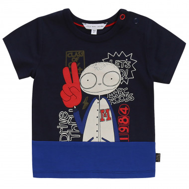 Camiseta bicolor estampada LITTLE MARC JACOBS para NIÑO