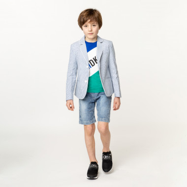 Tri-colour sports T-shirt DKNY for BOY