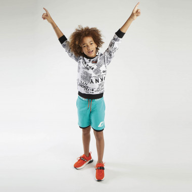 Printed fleece sweatshirt DKNY for BOY