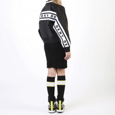 Knit logo dress DKNY for GIRL