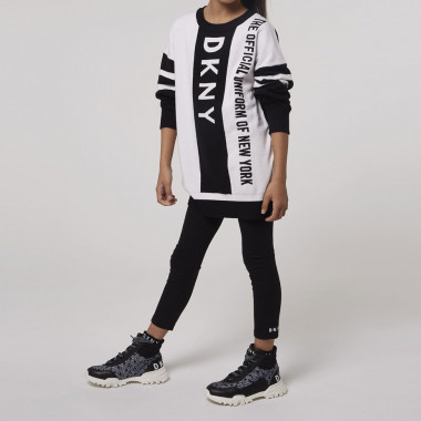 Tricot dress with logo DKNY for GIRL