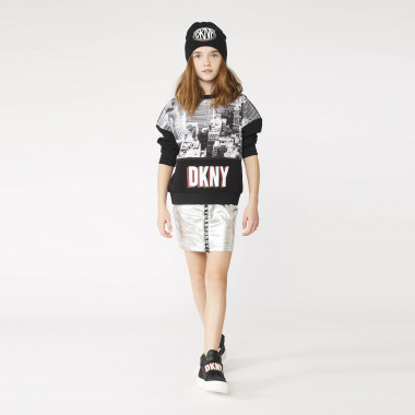 Round-necked sweatshirt with print DKNY for GIRL