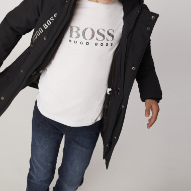 Water-repellent hooded parka BOSS for BOY