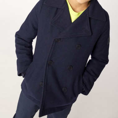 Pea coat in lined wool BOSS for BOY