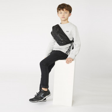 Dual-material lace-up trainers BOSS for BOY
