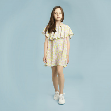 Printed dress with wide frill LANVIN for GIRL
