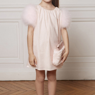 Printed tulle dress CHARABIA for GIRL