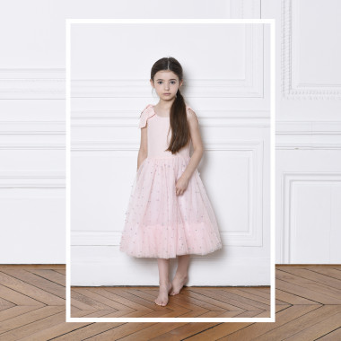 Tulle dress with straps CHARABIA for GIRL